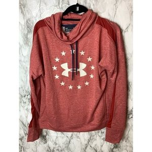 Under armor sweater with cowl neck